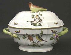 Herend Rothschild Bird Oval Tureen