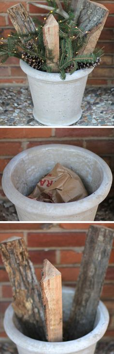 five minute topiary click pic for 20 diy christmas outdoor decorations diy front porch