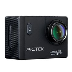 Action Camera, Pictek Wifi Waterproof Sports Action Camera, 2.0inch 12MP 1080P HD Video Camera with 170 Wide Angle Lens, 2 Batteries and Accessories
