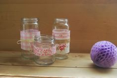 Ideas para reciclar tarros de vidrio.  DIY recycled glass jars.
