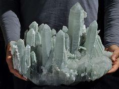 Little Castle found underground *31.4Lbs Rare Green Quartz Cluster Mineral Specimen From Manaoshan,China!