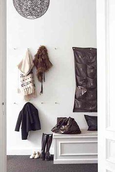 Homes: Danish: detail of coat hooks