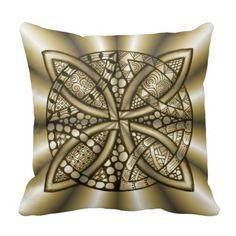 Beautiful hand drawn and decorated Celtic Knot in metallic gold