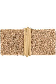 My new FAVORITE jewelry designer!!  Carolina Bucci Woven 18-karat rose gold cuff | NET-A-PORTER