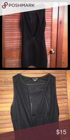 Black zipper front dress Black zipper front dress Forever 21 Dresses Mini