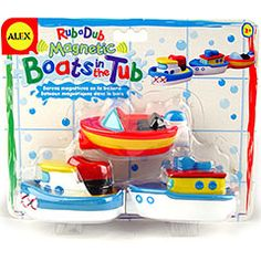 Magnetic Boats in the Tub - Best Bath Toys for Babies - Fat Brain Toys Best Toddler Toys, Toddler Boy Gifts, Best Bath Toys, Baby Fat, Top Toys, Outdoor Christmas Decorations, Baby Store, Educational Toys, Kids Christmas