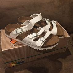 New Birkenstock Birki's New in box 3 strap white Birkenstock Birki's size 36 Birkenstock Shoes Sandals