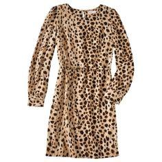 Long Sleeve Shift Dress in Leopard $27.99 xx
