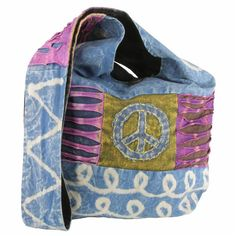 Peace, Love and Rock and Roll Cotton Sling Bag