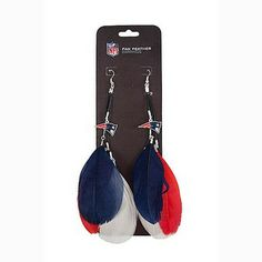 Official New England Patriots ProShop - Patriots Fan Feather Earrings