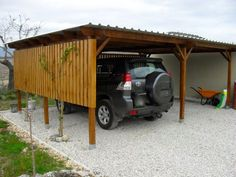wood carport. Need to size this for the girls bikes & maybe wheelbarrows n other outdoor equipment I keep readily accessible til winter