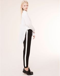 SIDE STRIPE SPORT TROUSERS - TROUSERS - WOMAN - PULL&BEAR Turkey