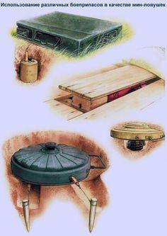 Использование подручных боеприпасов в качестве мин-ловушек