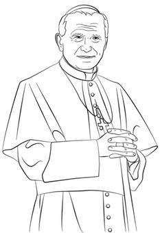 Image result for coloring page pope john paul ii