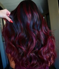 Fantastic Velvet Burgundy Hair Color Shades for Women 2020 - All For Hair Color Balayage Hair Color Shades, Hair Color Purple, Hair Color For Black Hair, Cool Hair Color, Black Hair Styles With Color, Winter Hair Colour, Red Hair Dye Colors, Red Velvet Hair Color, Wine Red Hair Color