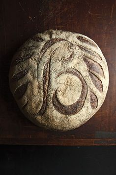A wonderful loaf of bread, from Balthazar Bakery, as seen in Saveur. Making Sourdough Bread, Sourdough Recipes, Bread Recipes, Ciabatta, Baguette, Arts Bakery, Bread Art, Rye Bread, Rustic Bread