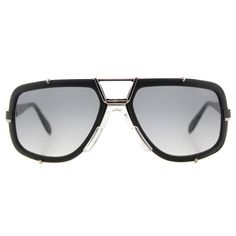9692557d64 Shop Cazal Cazal Legends Matte Black Plastic Grey Gradient Lens Aviator  Sunglasses - Free Shipping Today. overstock.com
