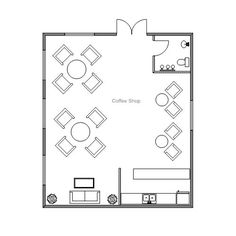 Small Coffee Shop Design | coffee shop floor plans