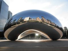 Millennium Park in Chicago - Great sight of the City Skyline and Shoreline