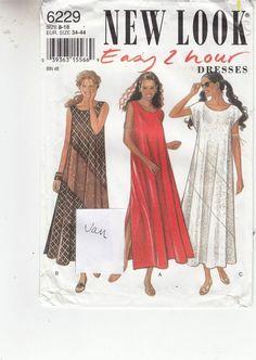 Vogue Dress Sleeveless Diagonal New Look Sewing Pattern 7127 Sizes 8-18 Uncut #VoguePatterns #dress