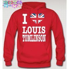 I Love Louis Tomlinson Hoodie British Flag Niall Zayn Liam Louis One... ($45) ❤ liked on Polyvore