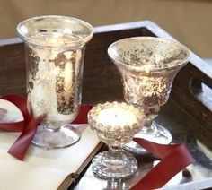 Weddings Mercury Glass Votive Holder | mercury glass
