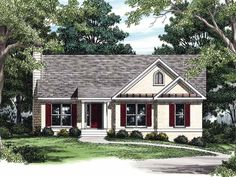 Eplans Cottage House Plan - Vaulted Kitchen and Dining Room - 1281 Square Feet and 3 Bedrooms from Eplans - House Plan Code HWEPL08202