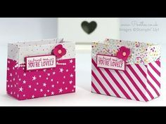 You're So Lovely, It's My Party DSP, Party Punch Pack, Love Blossoms Embellishment Kit - Party Bag using Stampin' Up! DSP