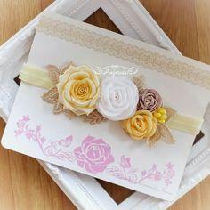 Ribbon Flower Tutorial, Hair Bow Tutorial, Diy Baby Headbands, Baby Bows, Flower Headbands, Wedding Bows, Wedding Fabric, Felt Flowers, Fabric Flowers