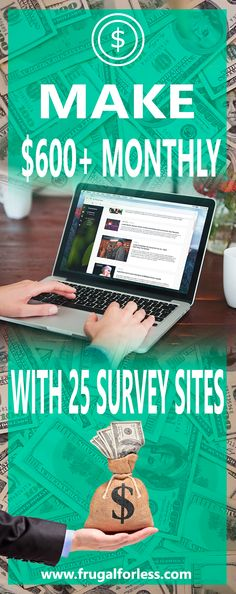 Read on for 25 survey sites to earn $600+/Month. Best Surveys To Make Money | Best Survey Sites | Best Survey Sites To Make Money | Make Money Online | Make Money | Work From Home | Make Money From Home | Surveys That Pay | Surveys For Money.