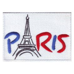 PARIS FRANCE (A) EMBROIDERED PATCH #ThePatchLab