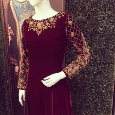 """Up for retail ! #retails #pakistanstreetstyle #pakistanweddingstyle #velvet #crimson #embellishments #southasia #heritage #craftsmanship"""