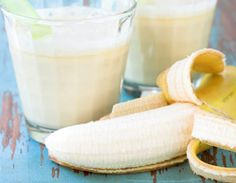 peanut butter banana smoothie for mornings. I love peanut butter and bananas