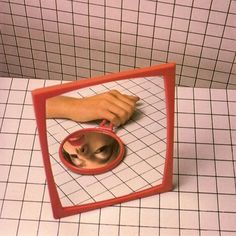 Photographing a mirror in a mirror.