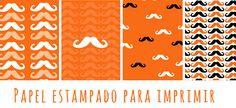 Papel decorado moustache/ moustache paper