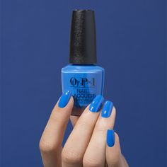 The power of color is inescapable, so go ahead and book that mani appointment! 💅 Shade: #TileArtToWarmYourHeart #ColorIsTheAnswer #HealingRainbow #OPILisbon #NailsOnPoint #Summer2020  #BlueNails Opi Nail Polish Colors, Nail Colors, Interview Nails, Disney Nail Designs, Dry Nails, Disney Nails, Heart Nails, Acrylic Nail Art, Blue Nails