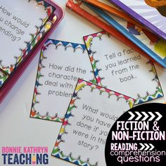 Do guided reading groups get boring for you? Use these questions to spice up your guided reading time! Laminate and put in a read to someone center and have students monitor their comprehension!