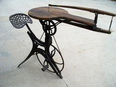 Antique pedal-powered jigsaw