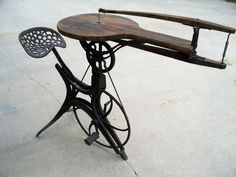 Antique pedal-powered jigsaw