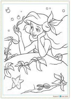 Little Mermaid Ariel Mermaids Disney Princess Coloring Pages For Kids Adult Birthday Parties