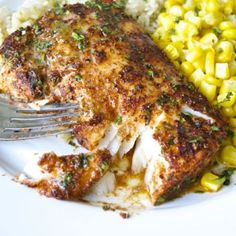 Chili Lime Cod Filets By Fashionablefoods: Cod Filets Are Rubbed With A Flavorful Spice Mixture Before Roasting To Perfection. Top This Roasted Chili-Lime Cod Is With A Delicious Lime-Butter Sauce. Sea Food Salad Recipes, Seafood Recipes, Cooking Recipes, Healthy Recipes, Seafood Meals, Drink Recipes, Seafood Bake, Meat Meals, Healthy Dinners