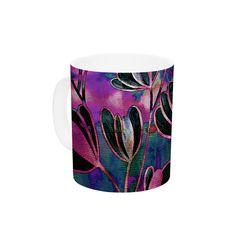 "Ebi Emporium ""Efflorescence - Mixed Berry"" Pink Purple Ceramic Coffee Mug"
