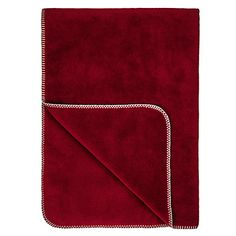 John Lewis Contrast Stitch Fleece Blanket