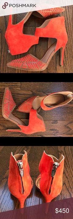 ❤️ nwot Sigerson Morrison Pumps Orange Suede Sigerson Morrison Pumps Never Been Worn Sigerson Morrison Shoes Heels