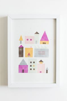 diy geometric stamp town...