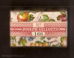 Antiques Atlas - 2 Joseph Gillott 's Pen Nib Boxes Circa 1850's