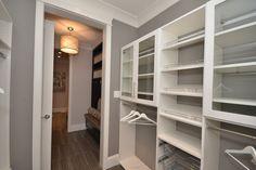 Custom Mud Room Euro (melamine) Shelving Custom Closet Design, Custom Closets, Master Bedroom Closet, Small Closets, Wet Rooms, Mudroom, Euro, Shelf