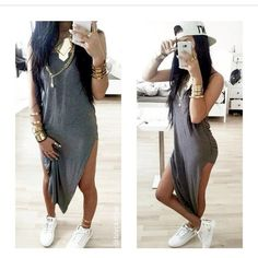 25 photo of 26 for long shirt dress with high slits