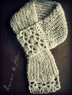 scarf with fancy pull through
