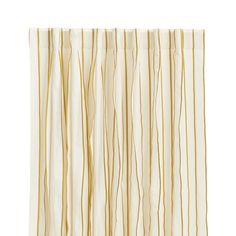 "Kendal 50""x84"" Yellow Striped Curtain Panel - Crate and Barrel"